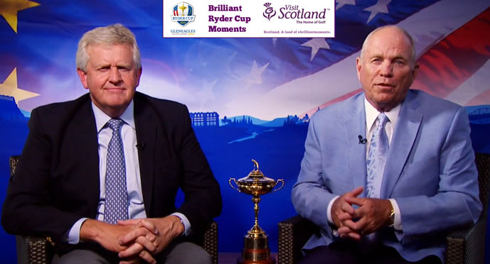 Colin Montgomerie and Butch Harmon