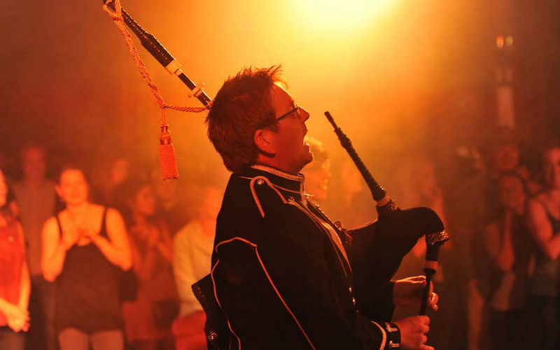 A piper performing at This Is Ceilidh