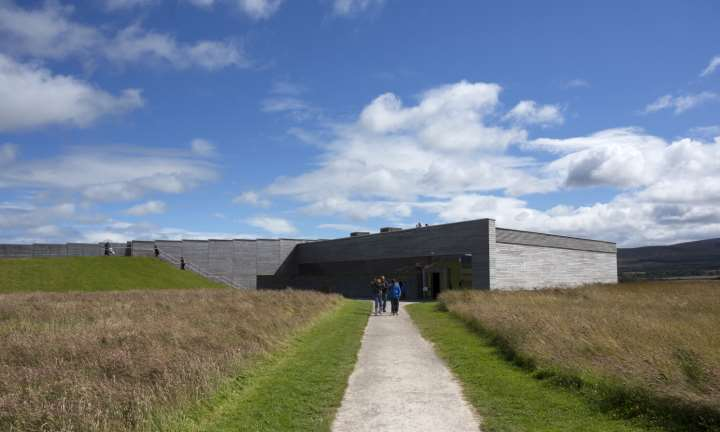 The visitor centre at Culloden Battlefield near Inverness