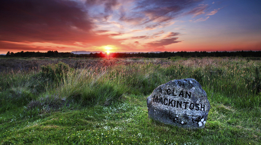 A dramatic sunset over Culloden Battlefield, near Inverness