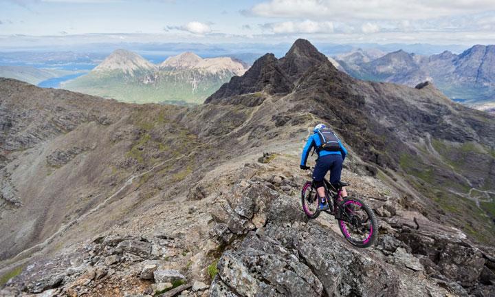 Danny riding the ridge