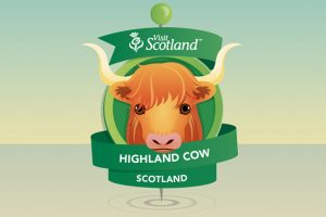 Highland Cow Pin