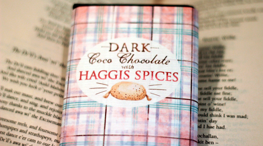 Dark Haggis Spice Chocolate Bar, Coco Chocolates