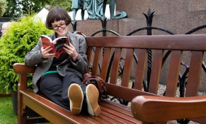 Reading in Charlotte Square, Edinburgh