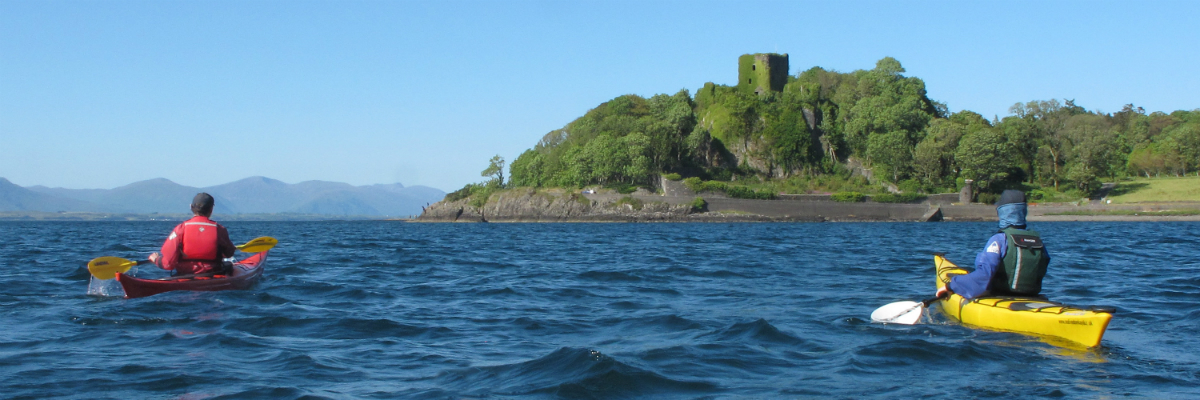 Approaching Dunollie Castle, near Oban Bay