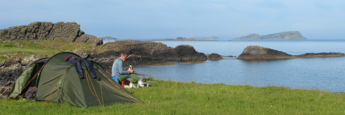 A well deserved break: camping on the Isle of Luing