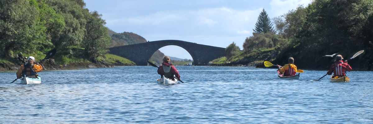 Paddling down the Clachan Sound