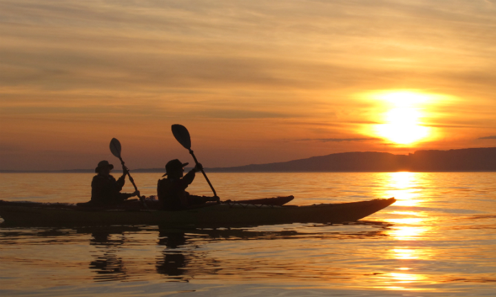 Paddling off into the Argyll sunset