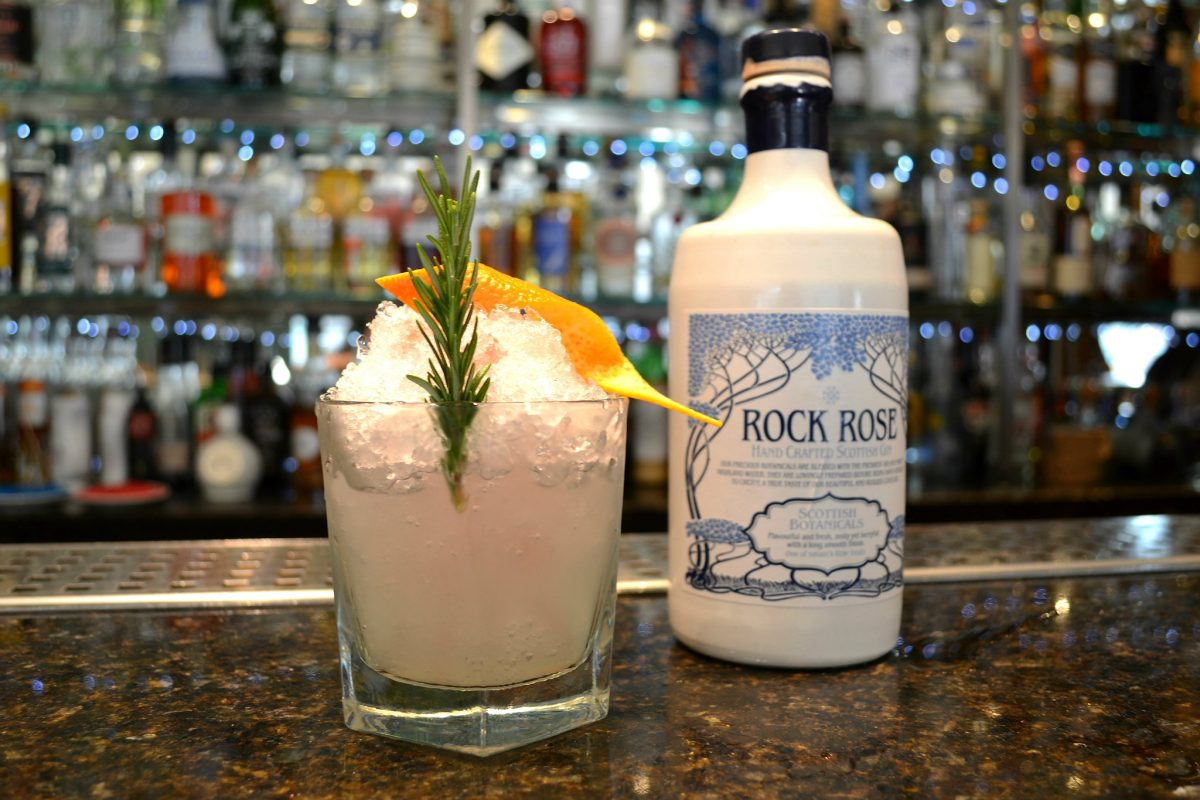 Rock Rose Bramble uses a Caithness-produced gin as the main ingredient, with a touch of Crème de Mure, a blackberry liqueur