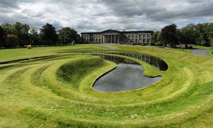 Scottish Gallery of Modern Art One with Landform by Charles Jencks