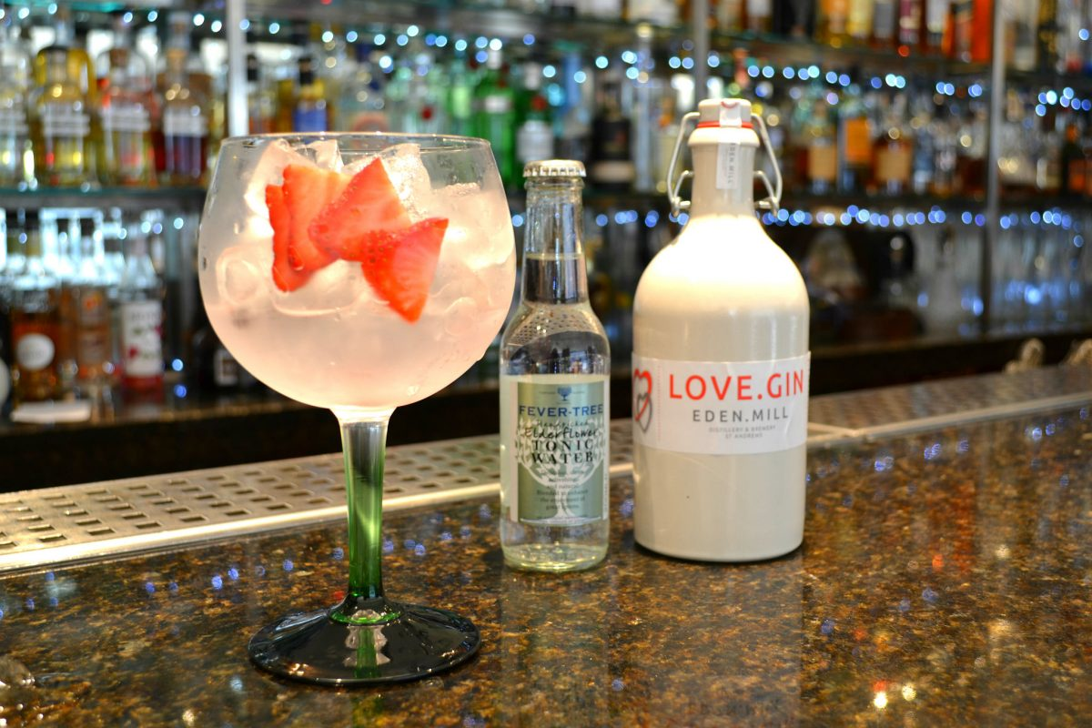 The V&T Cocktail is made using Eden.Mill Love Gin from St Andrews
