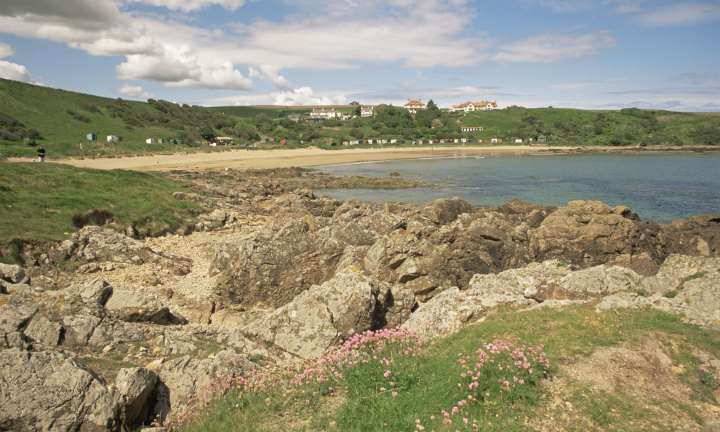 A view over Coldingham Bay, near St Abbs, Scottish Borders