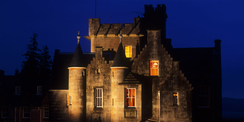 The Stonefield Castle Hotel a fine Scottish baronial building at Tarbet Argyll & The Isles C
