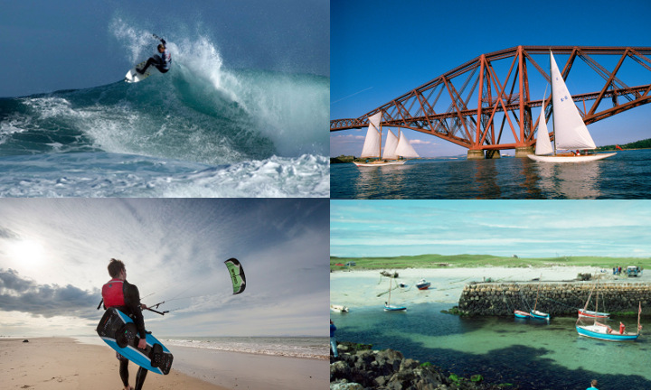 Collage watersports