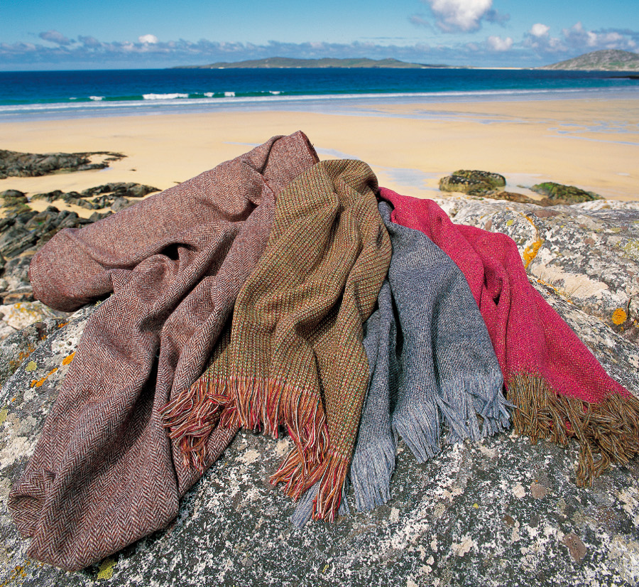 Harris tweed scarves