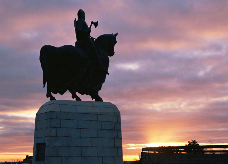 Robert the Bruce statue at the Bannockburn Heritage Centre, near Stirling