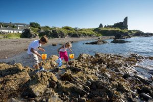 Rock pools, Dunure