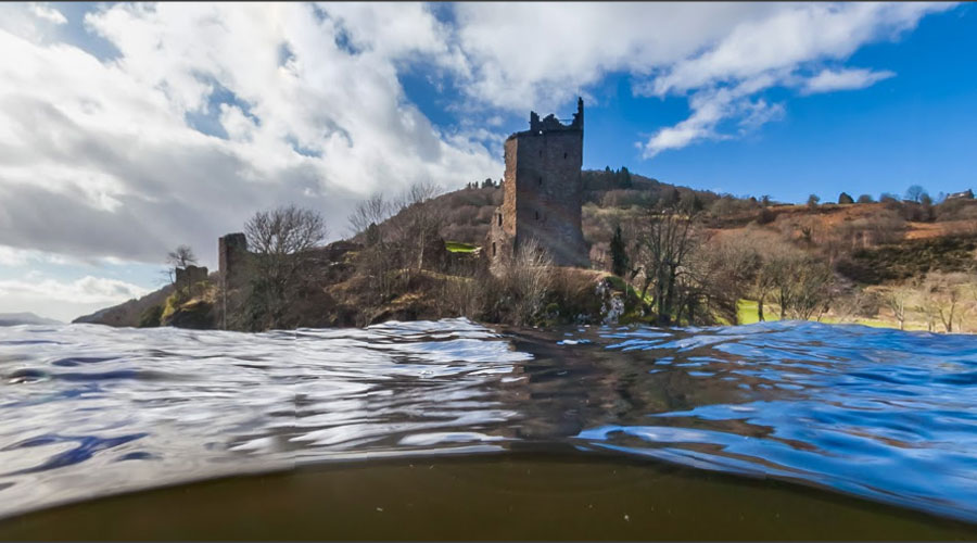 How Urquhart Castle looks to Nessie © Google