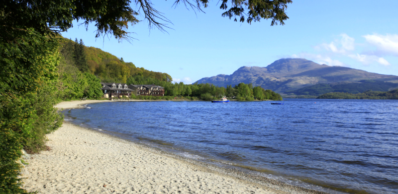 The Loch Lomond shoreline at Luss