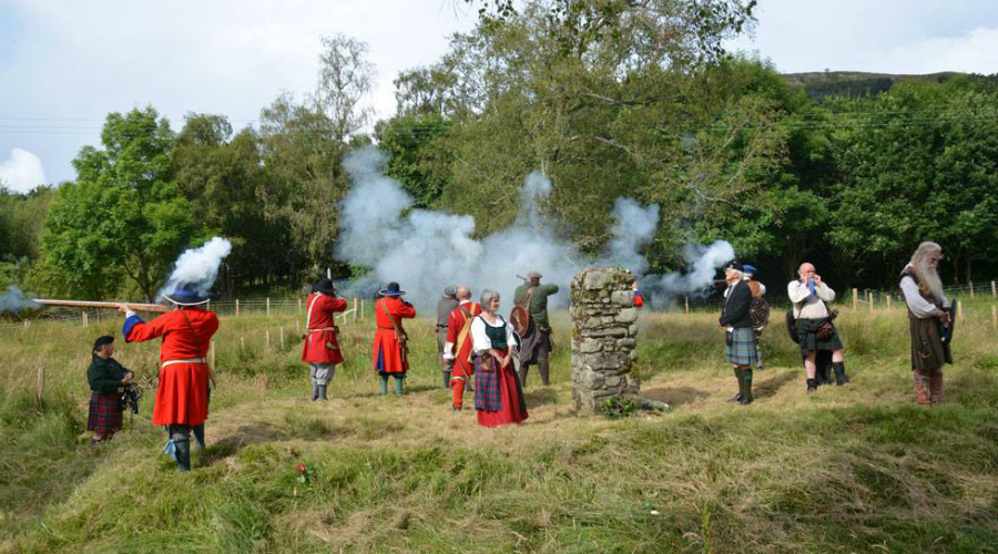 Commemorating the anniversary of the Battle of Killiecrankie at the Soldiers of Killiecrankie event