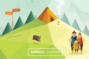 Camping at castles