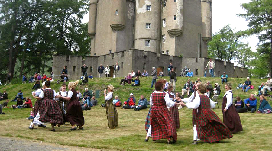 Traditional festivities taking place at Jacobite Day at Braemar Castle