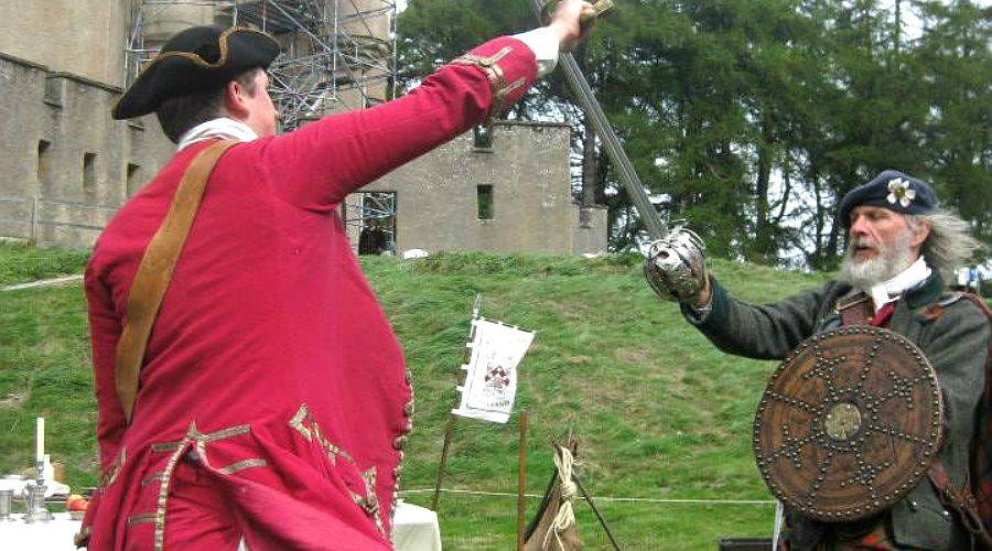 Swords clash at Jacobite Day at Braemar Castle
