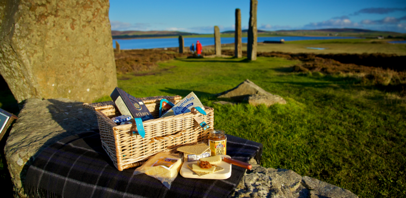 A picnic at the Ring of Brodgar, Orkney