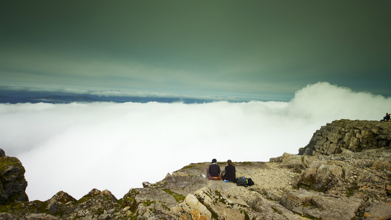 The summit of Ben Nevis, West Highlands