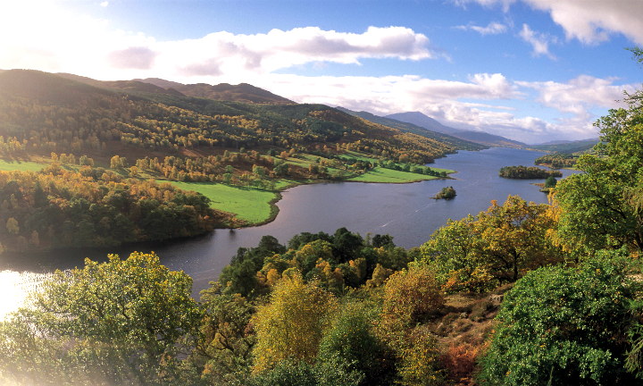 Loch Tummel, as seen from the Queen's View, near Pitlochry, Perthshire