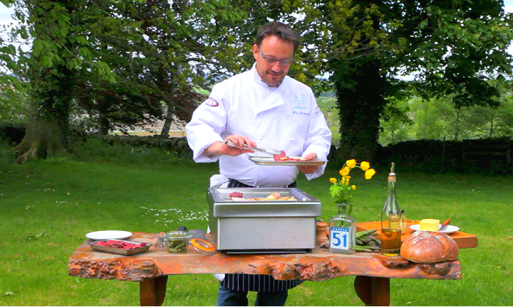Chef Fred Berkmiller takes part in the Scottish Summer Food Challenge