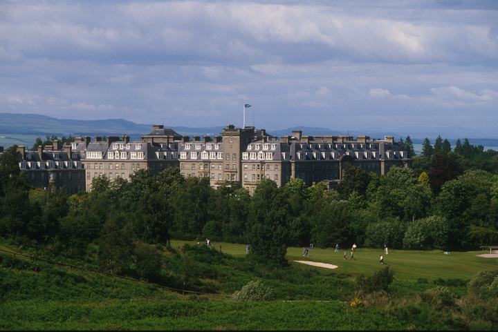 Looking over to Gleneagles Hotel, Perthshire