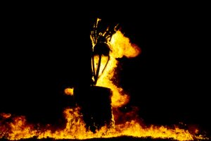 The annual Burning of Clavie Festival, Burghead, Highlands