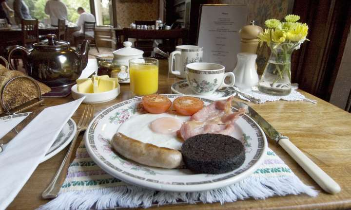 Breakfast at the Viewfield House Hotel, Portree, Isle of Skye