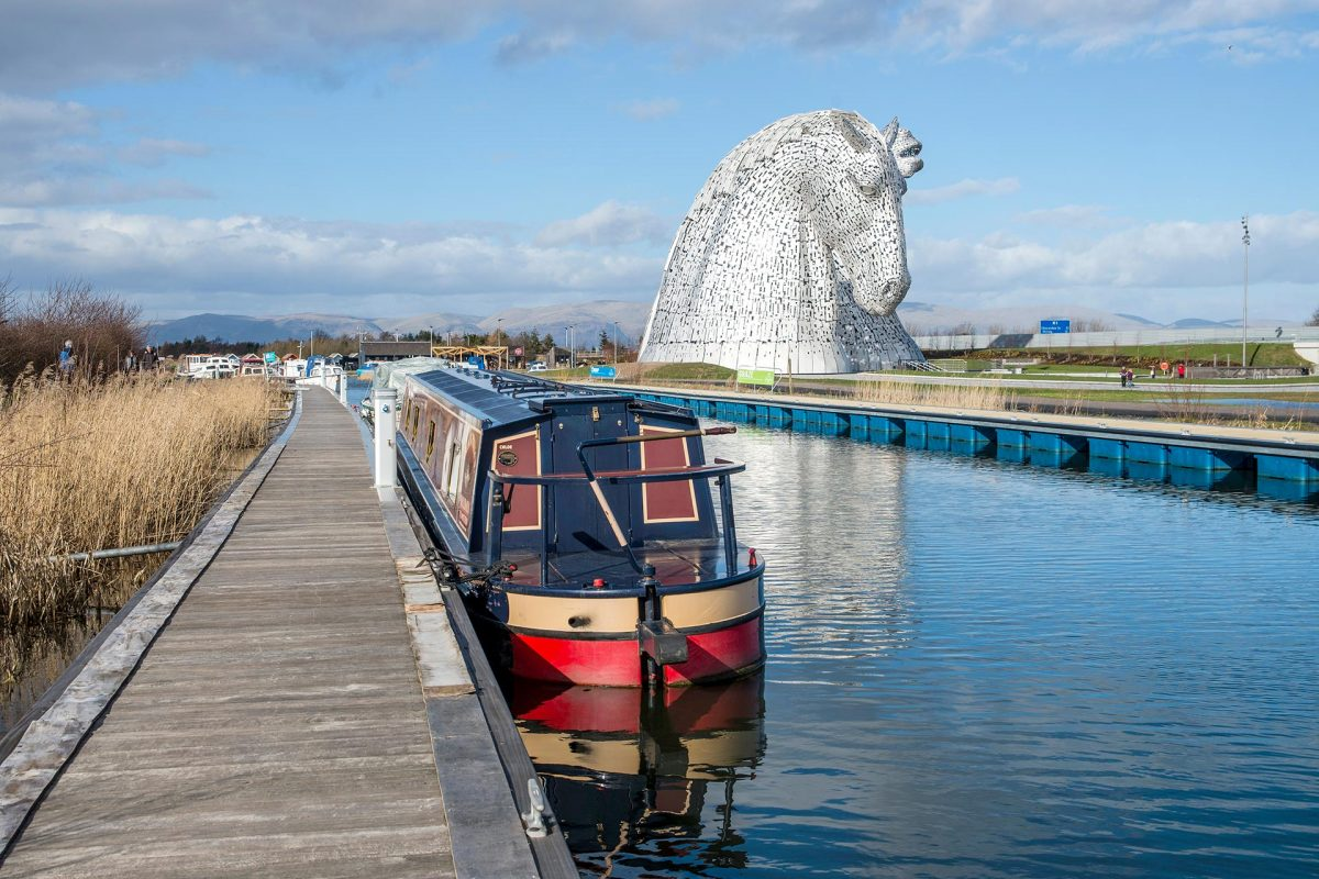 The Union Canal next to The Kelpies