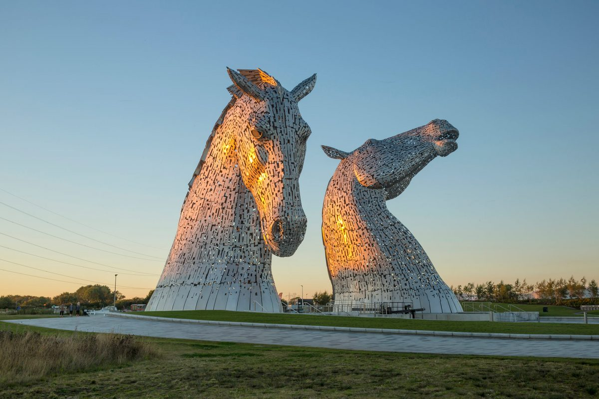 The Kelpies by Andy Scott at The Helix