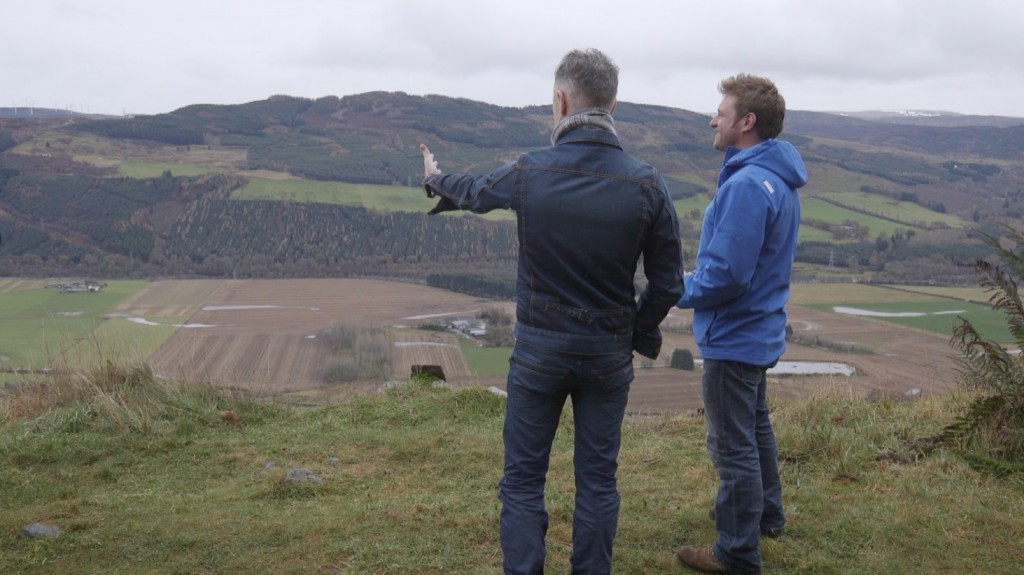 Alan Cumming and George Oliphant in Highland Perthshire | Photo by NBC