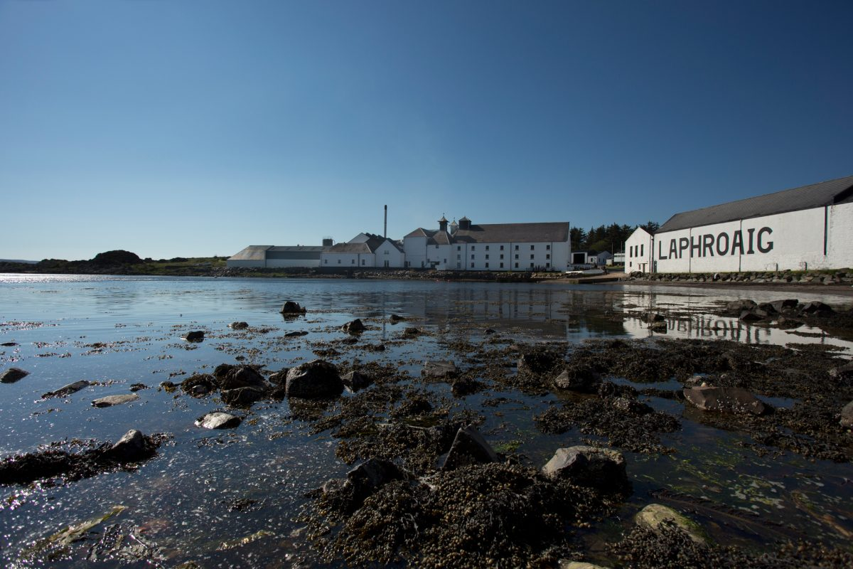 The Laphroaig Distillery on the Isle of Islay.