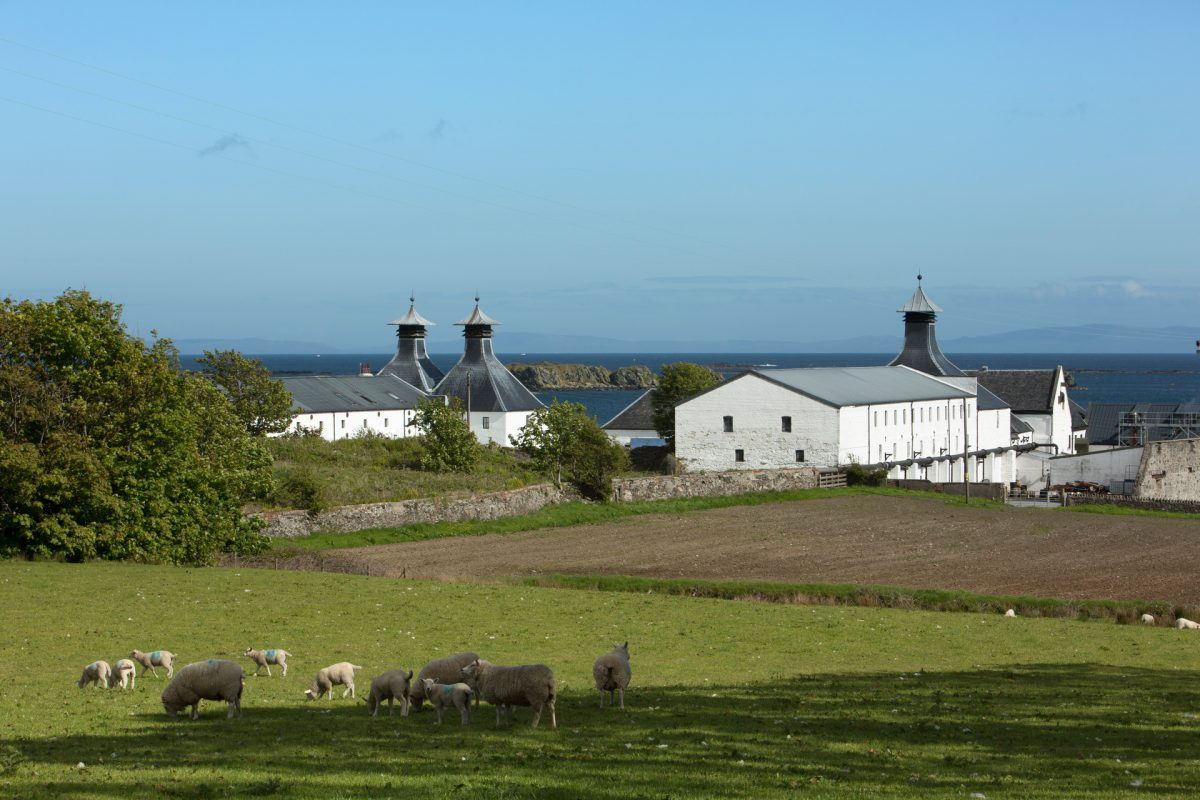 The Ardbeg Distillery on the Isle of Islay.