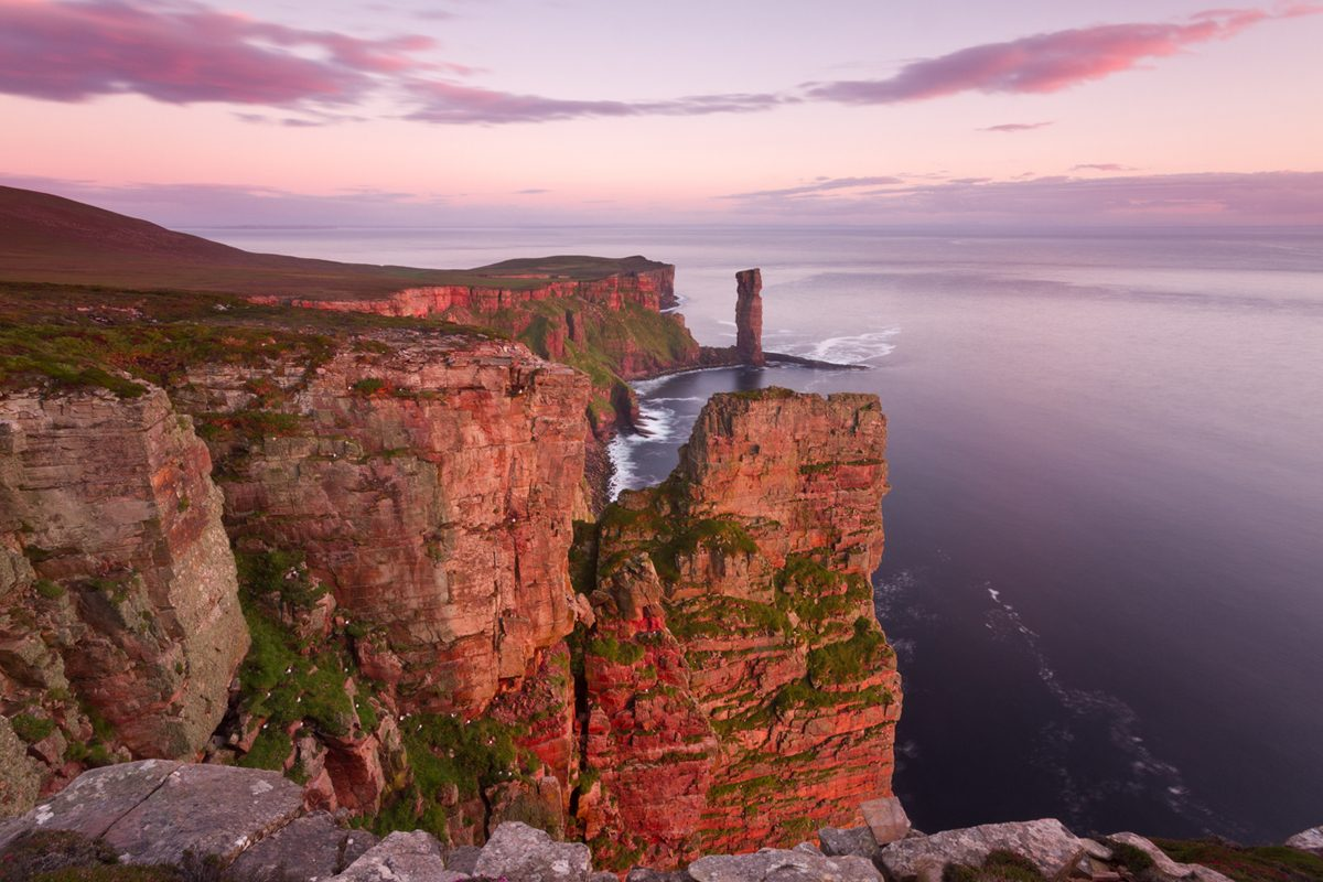 The Old Man of Hoy at sunset, Orkney