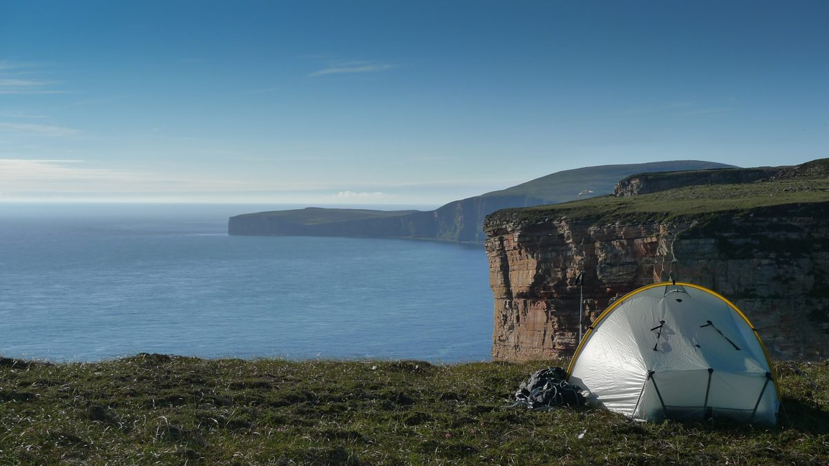 Camping on Hoy, Orkney
