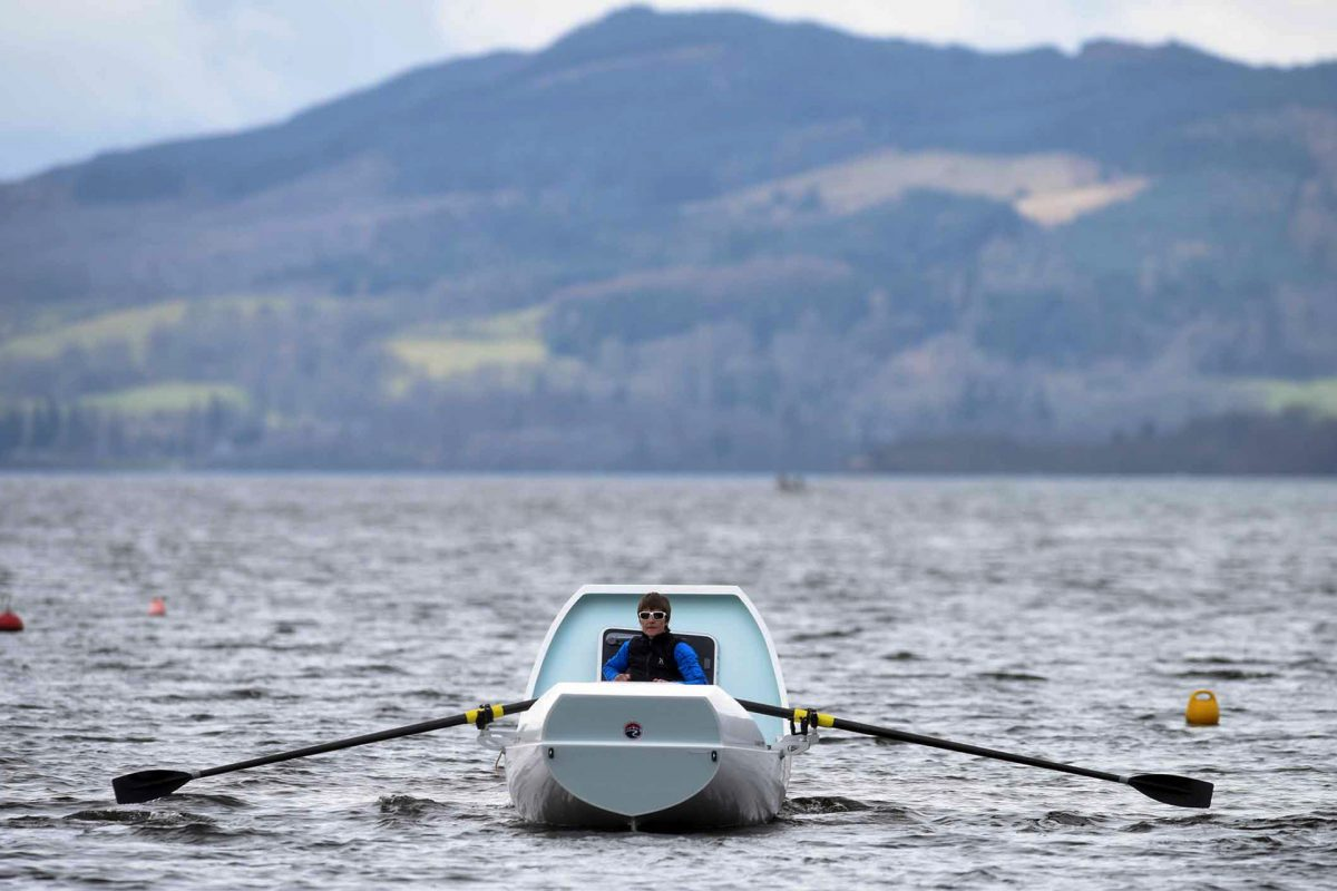 Elaine Hopley open rowing in Scotland