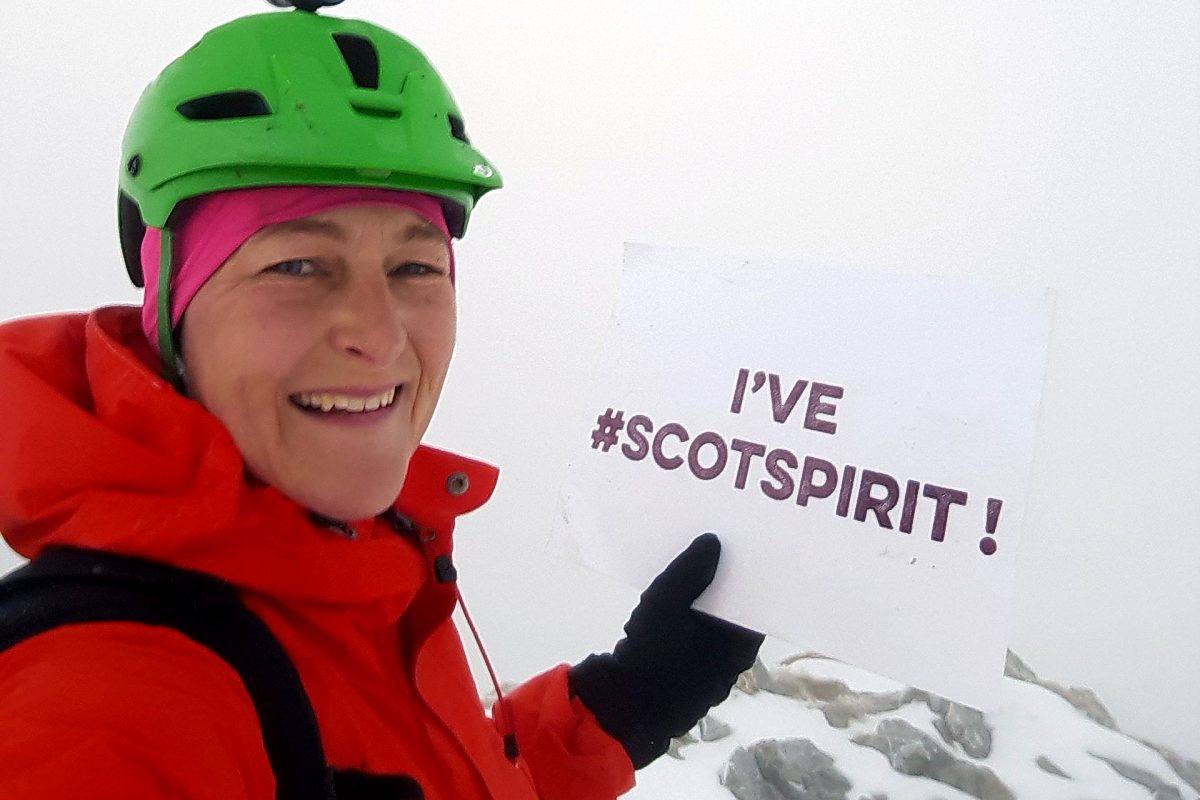 Elaine Hopley shows that she's got #ScotSpirit at Glencoe