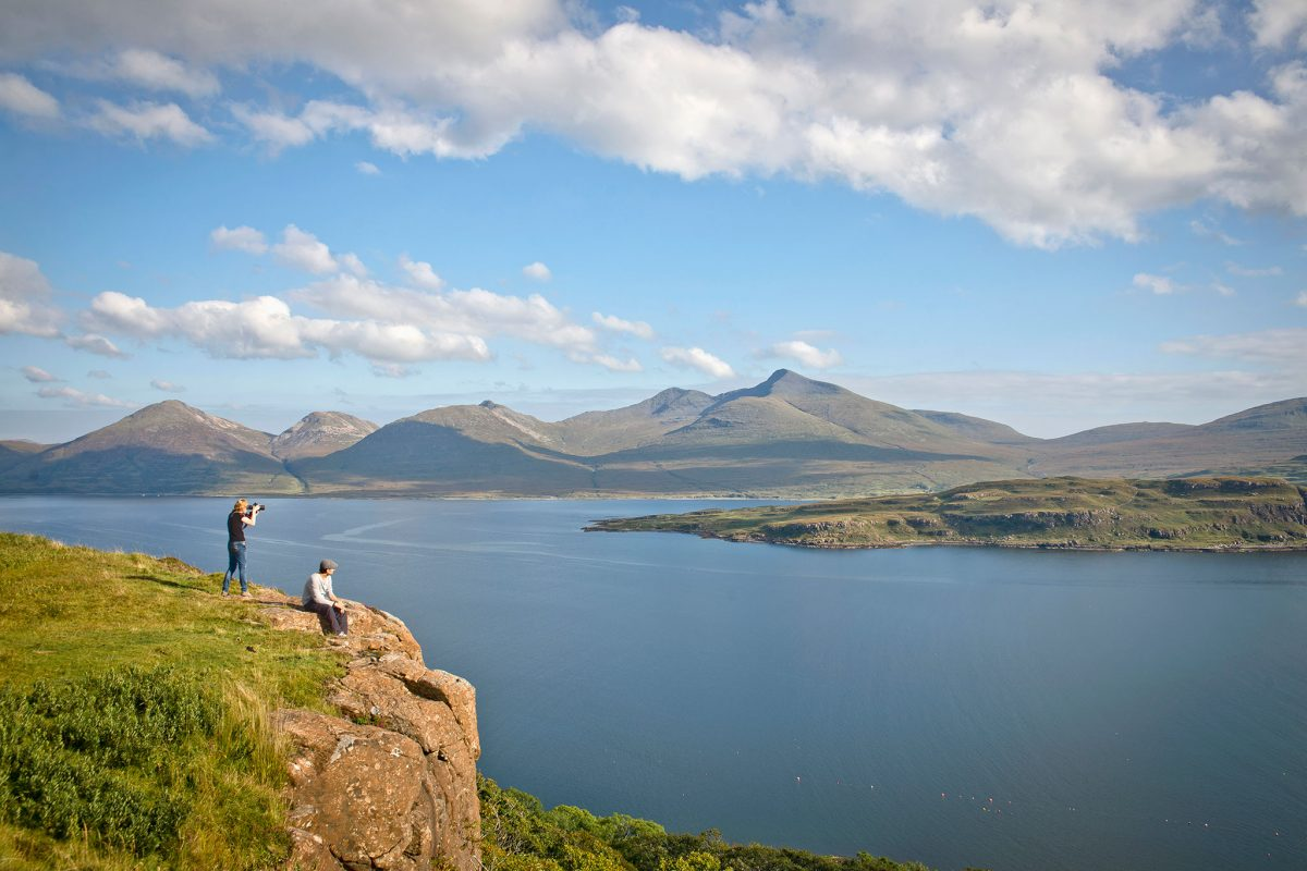 Looking across Loch na Keal to Ben More, Isle of Mull