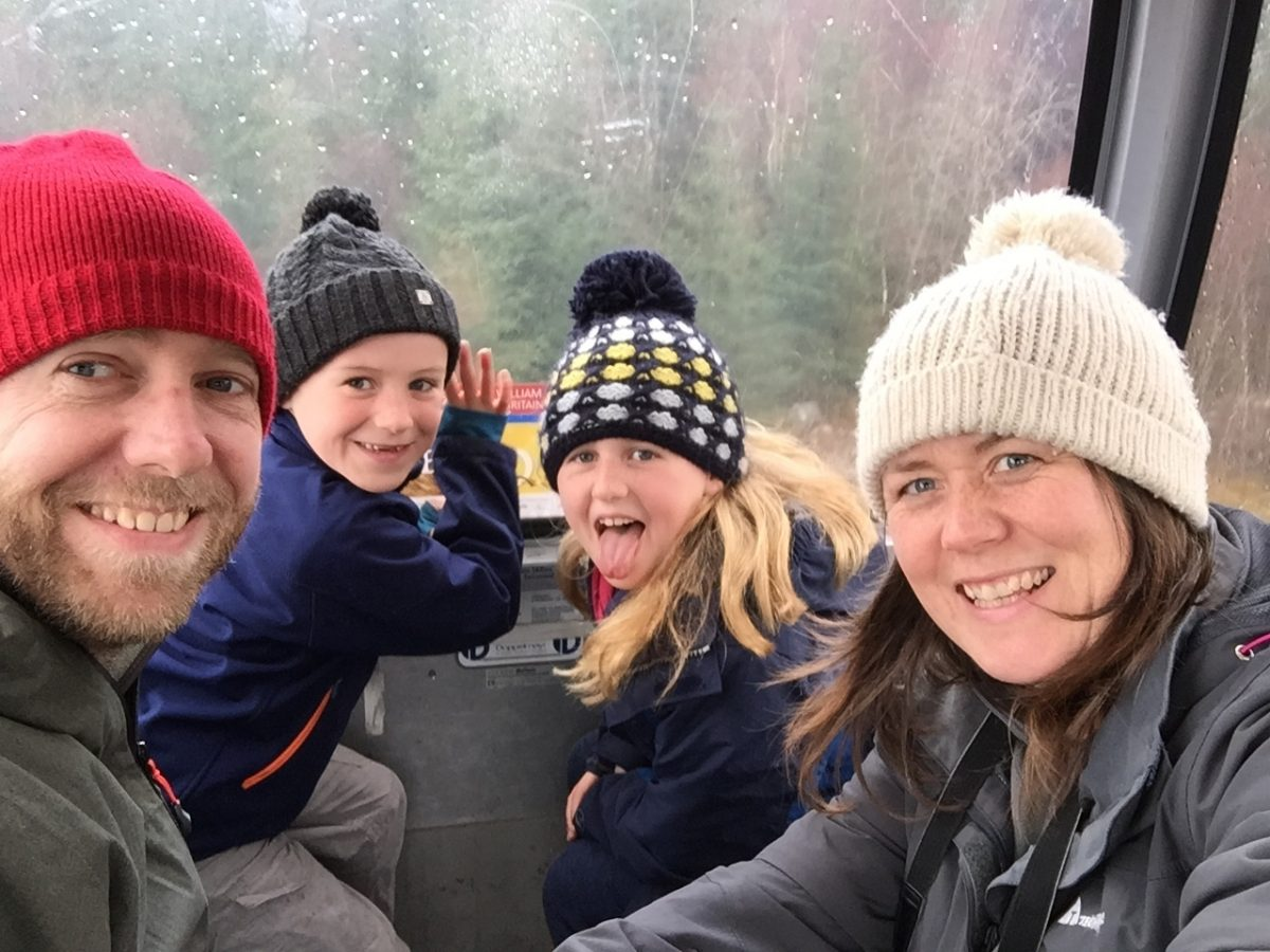 On the cable car to the Ben Nevis Range, Scotland