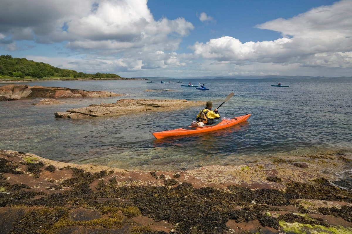 Kayaking in Brodick Bay, Isle of Arran