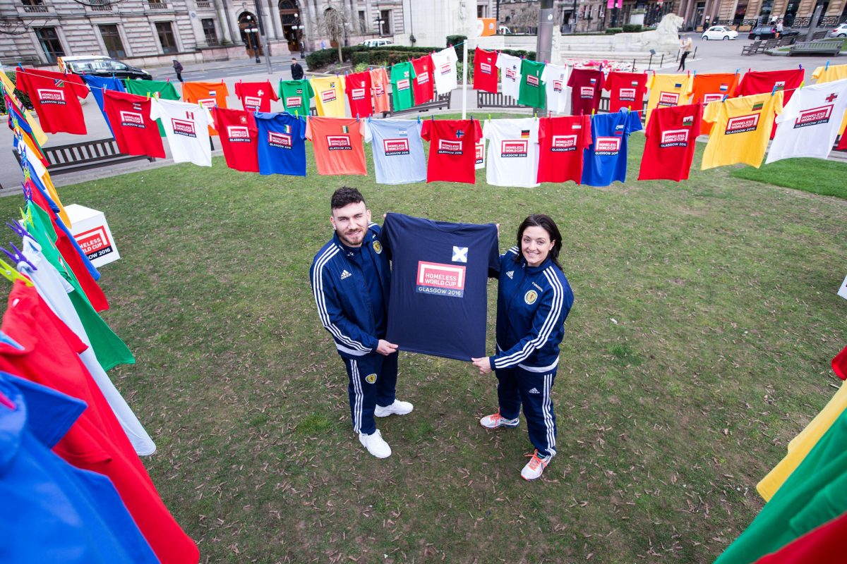 Scotland International players Robert Snodgrass and Gemma Fay reveal the teams taking part in the Homeless World Cup 2016