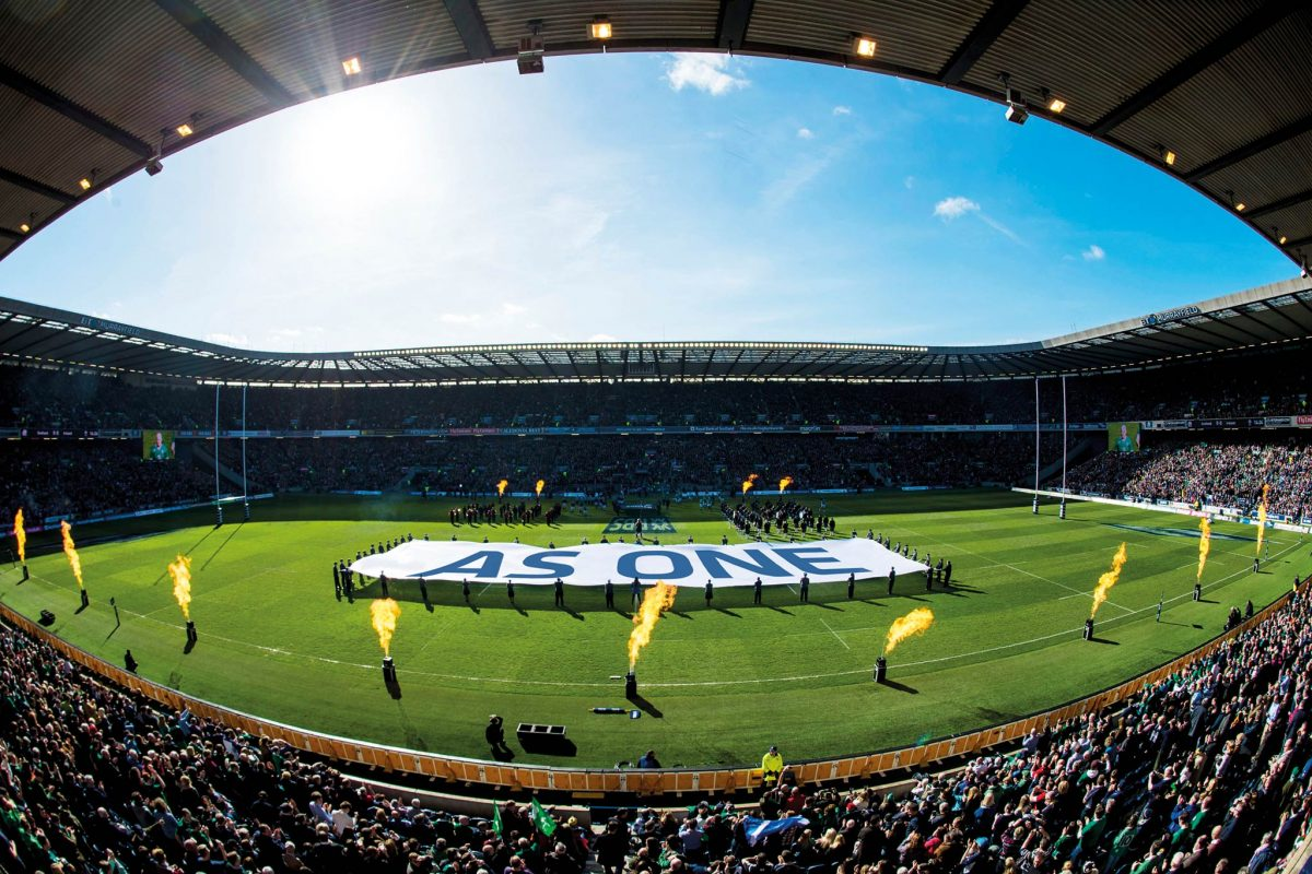 21/03/15 RBS SIX NATIONS SCOZIA contro IRLANDA STADIO BT MURRAYFIELD - EDIMBURGO Una panoramica dello Stadio BT Murrayfield