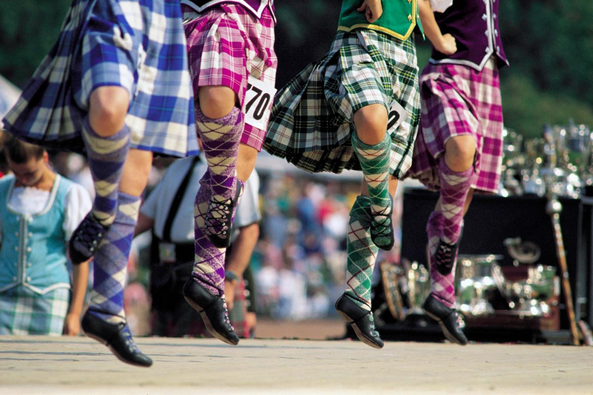 The Highland Dancing competition at the Cowal Games, Dunoon, Argyll & The Isles.