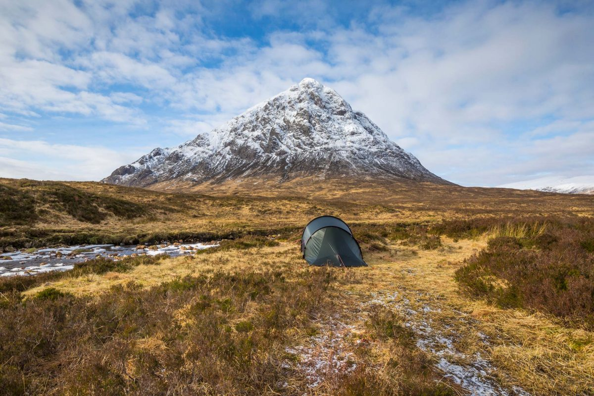 Wild Camping in Glencoe by the River Coupall and Stob Dearg (Buachaille Etive Mor)